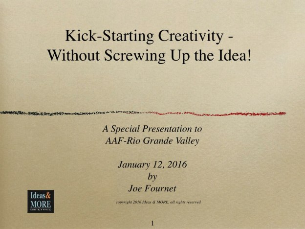 Kick-Starting Creativity Without Screwing Up the Idea