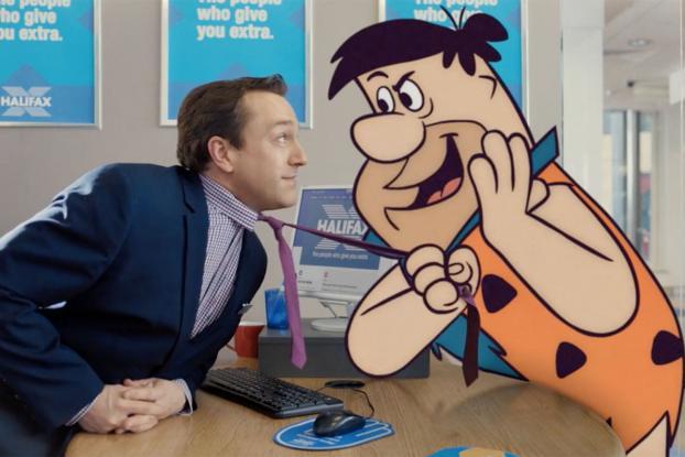 Fred Flintstone at Halifax Bank