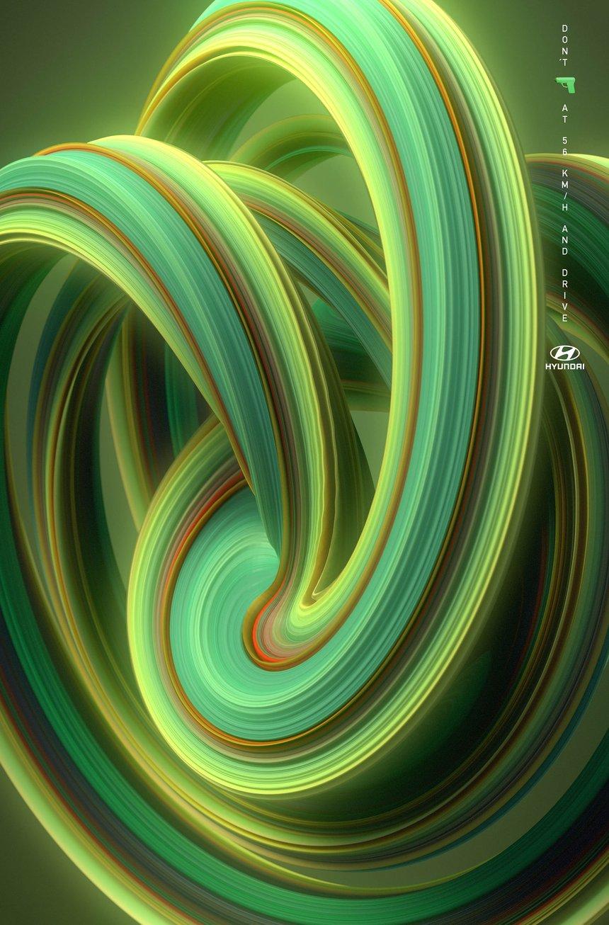 Color Swirl Hyundai-green