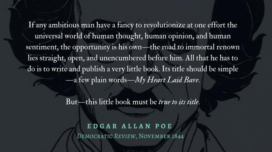 Edgar Allan Poe-silhoutte quote