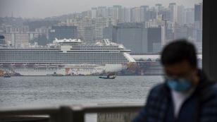 cruiseship docked hongkong