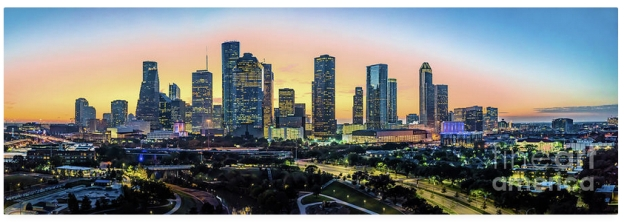 Houston Skyline Glow